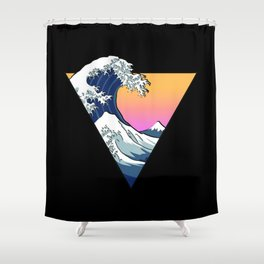 Great Wave Aesthetic Shower Curtain