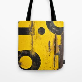 black numbers on yellow background Tote Bag