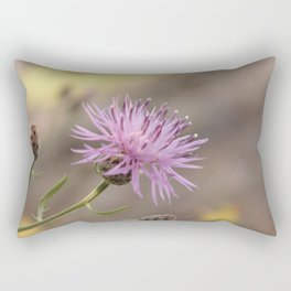 Purple Flowers Vintage on the Beach Rectangular Pillow