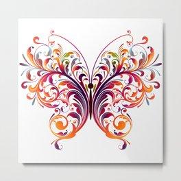 Floral Flutterby Metal Print