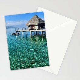 Huts in Tahiti Stationery Cards
