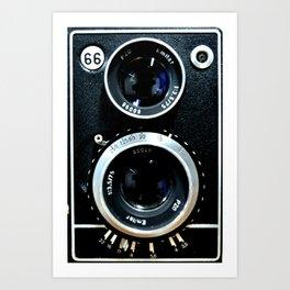 Vintage camera TLR Art Print