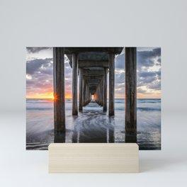 Pacific Ocean California Sunset La Jolla Scripps Pier Mini Art Print