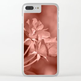 Through Rose Colored Glasses Clear iPhone Case
