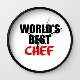 worlds best chef Wall Clock