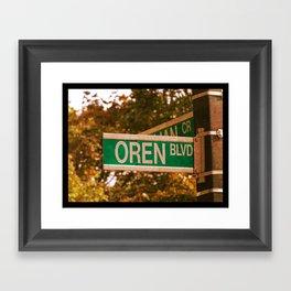 Oren Blvd Framed Art Print