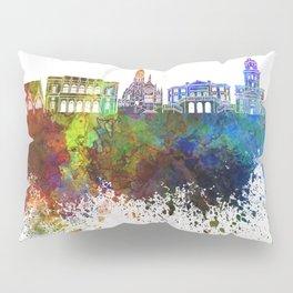 Gothenburg skyline in watercolor background Pillow Sham