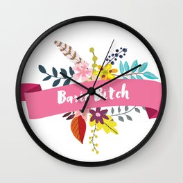 Basic Bitch Wall Clock
