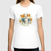 friends T-shirts featuring Fox Friends by Teagan White