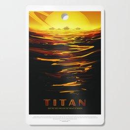 Old Sign NASA / Titan Cutting Board
