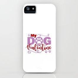 Dog Valentine iPhone Case