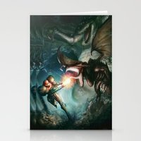 metroid Stationery Cards featuring Metroid by ImmarArt