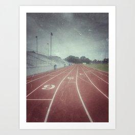 My Running Days Art Print