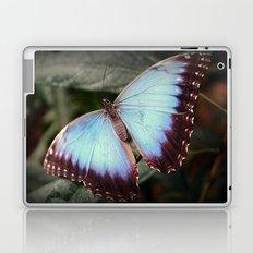 Blue Morpho - Wings Open Laptop & iPad Skin