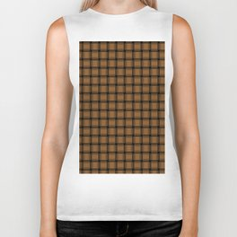 Small Brown Weave Biker Tank