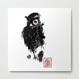 Hibou / Owl Metal Print