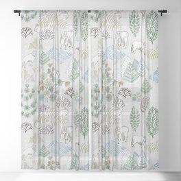 Far, Far North Sheer Curtain