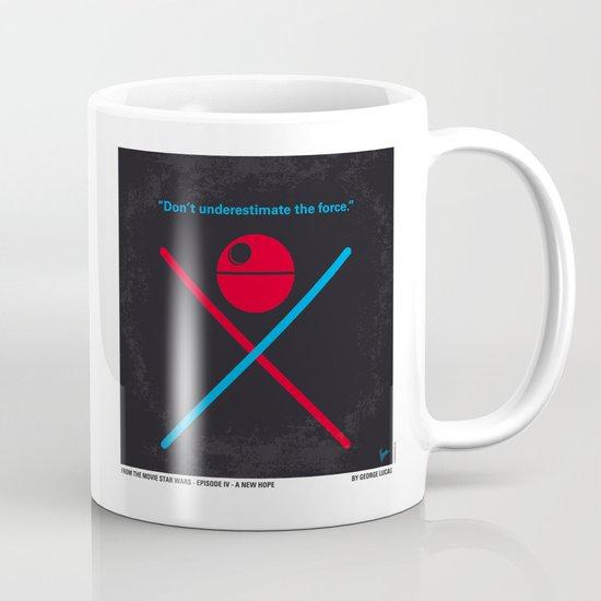 No154 My STAR Episode IV A New Hope WARS minimal movie poster Mug