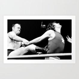 Wrestling Gene Kininski Art Print