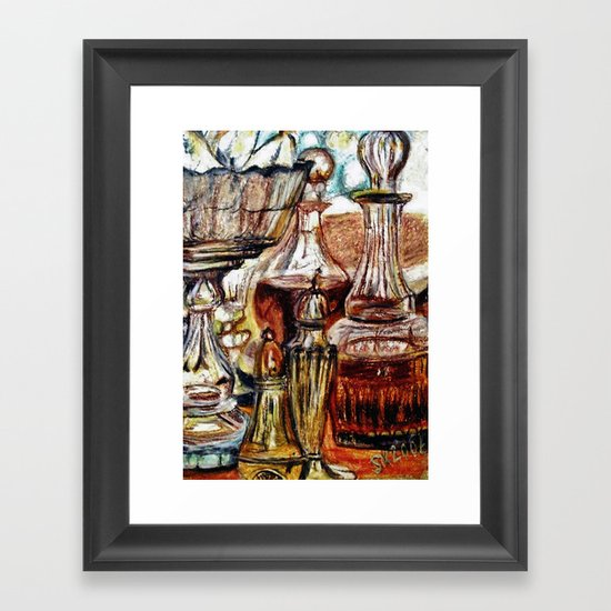 CRAYON LOVE - Crystal Framed Art Print