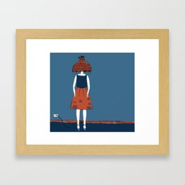 lamp head Framed Art Print