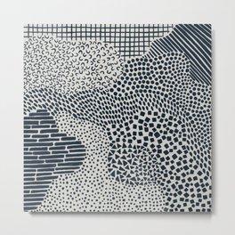 Dark Blue Patterned Pattern II Metal Print