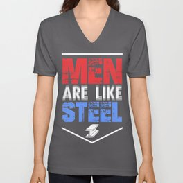 Metal Worker Men are Like Steel Welder Steelworker Unisex V-Neck