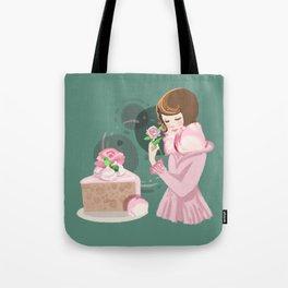 Rose Chiffon Cake Tote Bag