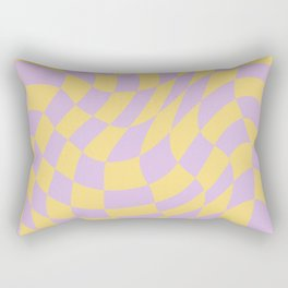 Play Checkers Lavender Rectangular Pillow