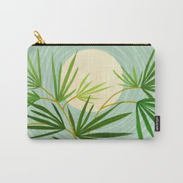 Summer Moon / Tropical Garden Illustration Carry-All Pouch