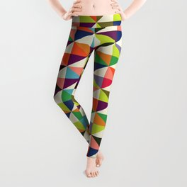 Geometric Pattern #86 (colorful mid-century triangle) Leggings