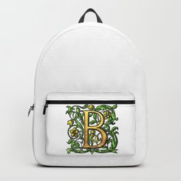 Beautiful Monogram Initial Letter 'B' Backpack