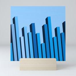 Blue Buildings Mini Art Print