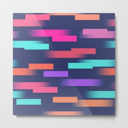 Abstract colorful sripes Metal Print
