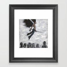 Eros Indifferent Framed Art Print