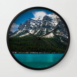 Canadian Rockies and Turquoise Waters Wall Clock