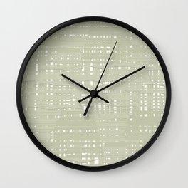 Green straw background Wall Clock