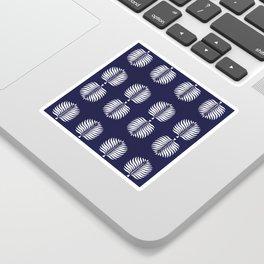 TROPICAL PALMS . BLUE + WHITE Sticker