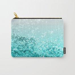 Silver Gray Aqua Teal Ocean Glitter #1 #shiny #decor #art #society6 Carry-All Pouch