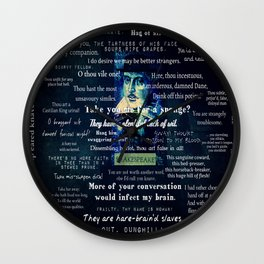 Shakespeare insults collection quotes  Wall Clock
