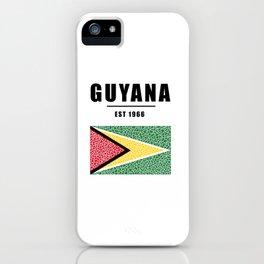Guyana Flag | Est 1966 BLK iPhone Case