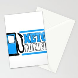 Keto Fueled Healthy Living Diet LCHF Low Carb High Fat Diet Stationery Cards