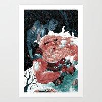 viking Art Prints featuring Viking by Logan  Faerber