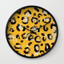 Yellow Panther Wall Clock