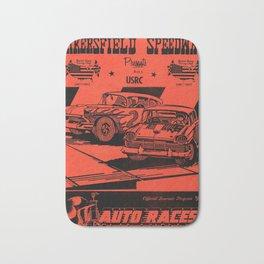 Vintage Auto Races Poster Bath Mat