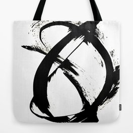 Brushstroke 7: a minimal, abstract, black and white piece Tote Bag