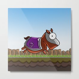 Joust It (Horsey) Metal Print