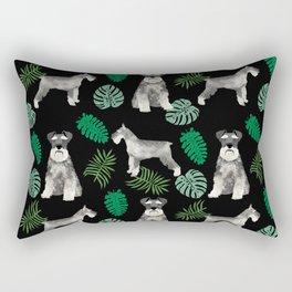 Schnauzer summer monstera tropical pure breed dog gifts Rectangular Pillow