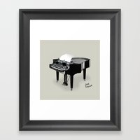 Piano/Typewriter Framed Art Print