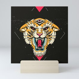 Tiger 3 Eyes Mini Art Print